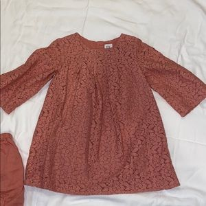 Baby gap pink lace dress size 18-24 months